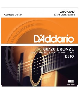 D'Addario EJ10 Akusztikus gitárhúr