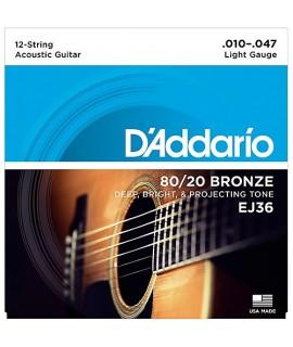 D'Addario EJ36 Akusztikus gitárhúr