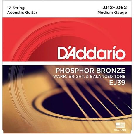 D'Addario EJ39 Akusztikus gitárhúr