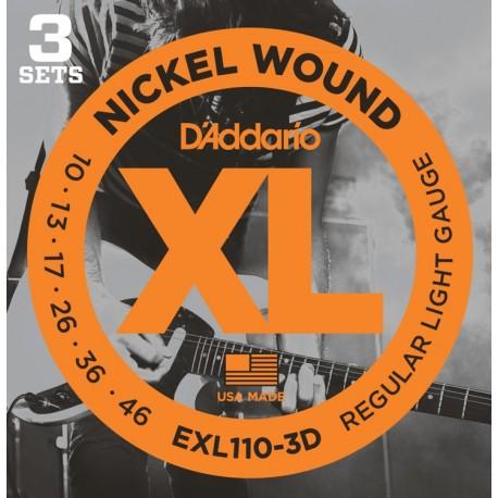 D'Addario EXL110-3D Elektromos gitárhúr
