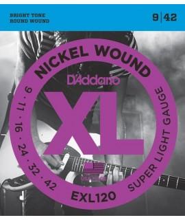 D'Addario EXL120 Elektromos gitárhúr szett