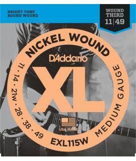 D'Addario EXL115W Elektromos gitárhúr szett