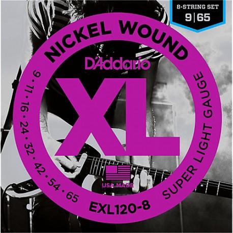 D'Addario EXL120-8 Elektromos gitárhúr szett