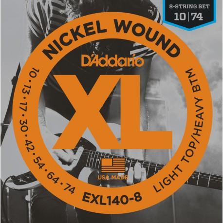D'Addario EXL140-8  Elektromosgitár húr szett