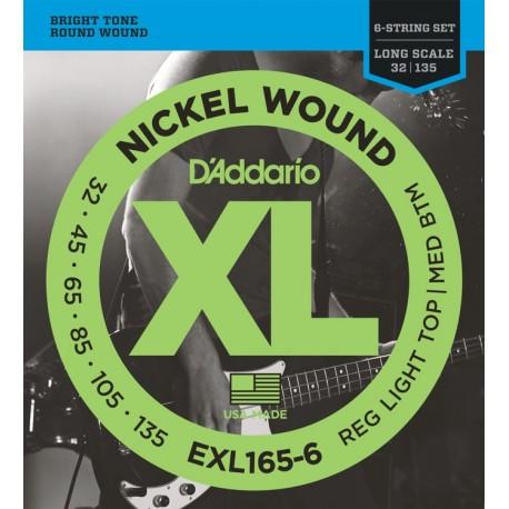 D'Addario EXL165-6 Basszusgitár húr szett