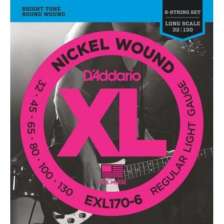 D'Addario EXL170-6 Basszusgitár húr szett