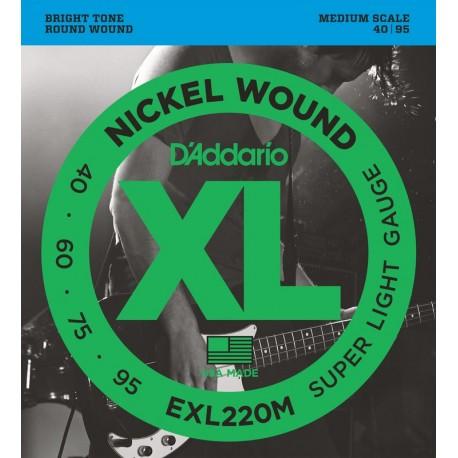 D'Addario EXL220M Basszusgitár húr szett