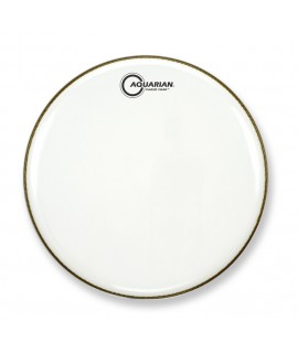 "18"" Classic Clear Gloss White Bass Drumhead"