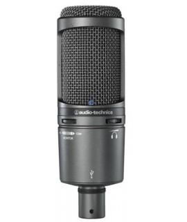 Audio-technica AT2020 USB kondenzátor, kardiodid stúdió mikrofon