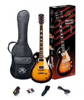 SX SE3  Vintage Sunburst elektromos gitár szett