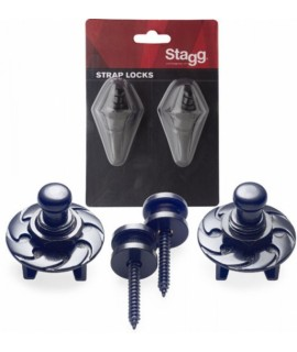 Stagg SSL1 BK Strap Locks
