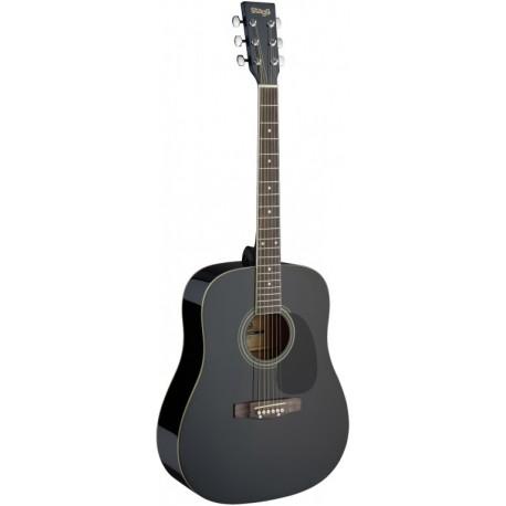 Stagg SA20D BLK Akusztikus gitár