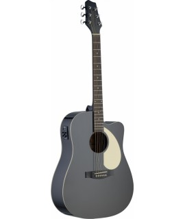 Stagg SA30DCE-BK Elektroakusztikus gitár