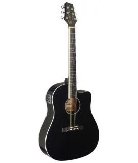 Stagg SA35 DSCE-BK  elektro-akusztikus gitár