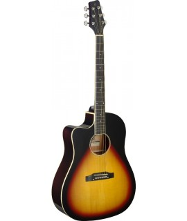 Stagg SA35 DSCE-VS LH  elektro-akusztikus gitár