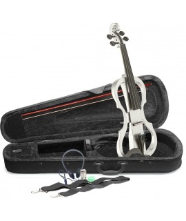STAGG EVN X-4/4 WH elektromos hegedű