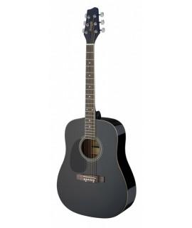 STAGG SA20D LH-BK balkezes akusztikus gitár