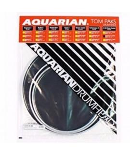 """Aquarian TCRSP2B-BK dobbőr szett + AJÁNDÉK 14"""" pergőbőr"""