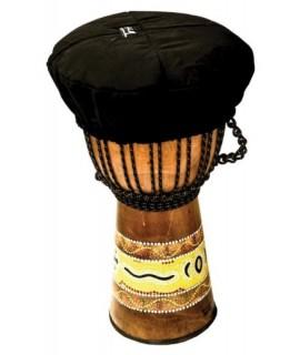 Terré fekete Djembe védőhuzat 25cm