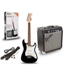 Squier Stratocaster Pack Black elektromos gitár szett