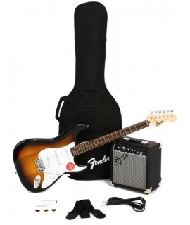 Squier Stratocaster Pack Brown Sunburst elektromos gitár szett