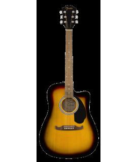 Fender FA-125 Dreadnought Walnut Sunburst elektro-akusztikus gitár