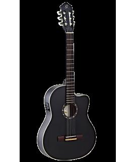 Ortega RCE125SN-SBK elektro-klasszikus gitár