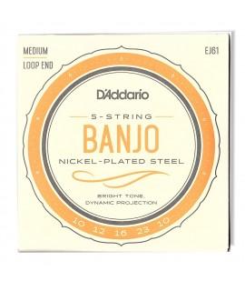 D'Addario EJ61 Banjo húrkészlet 10-10