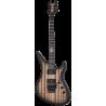 Schecter Synyster Gates FR QM USA Signature Trans Clear Black Burst w/ pinstripe elektromos gitár